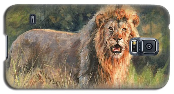 Galaxy S5 Case featuring the painting Lion by David Stribbling