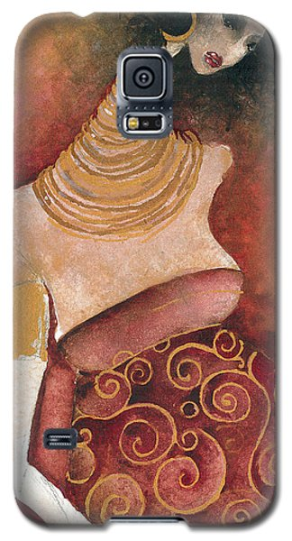 Galaxy S5 Case featuring the painting 9 Months by Maya Manolova