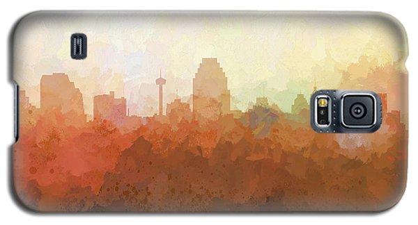 Galaxy S5 Case featuring the digital art San Antonio Texas Skyline by Marlene Watson