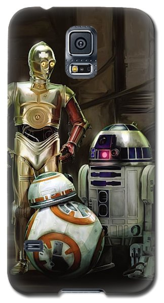 Star Wars Galaxy S5 Case - Star Wars Episode Vii - The Force Awakens 2015 by Geek N Rock