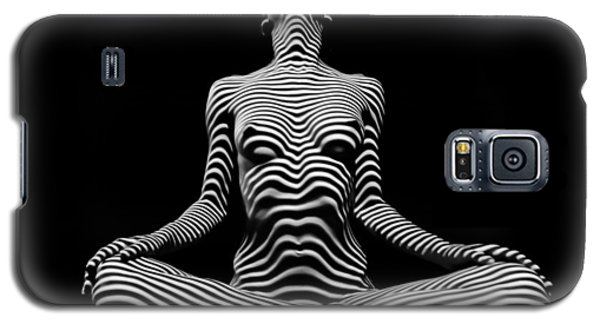 9934-dja Lotus Position In Zebra Stripes  Galaxy S5 Case