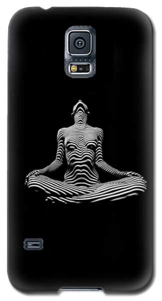 9934-dja Lotus Position In Zebra Stripes  Galaxy S5 Case