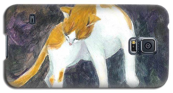 A Bathing Cat Galaxy S5 Case by Jingfen Hwu