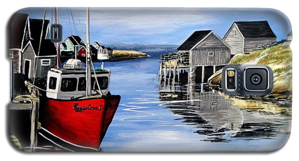 Galaxy S5 Case featuring the painting A Beautiful Day At Peggy's Cove  by Patricia L Davidson
