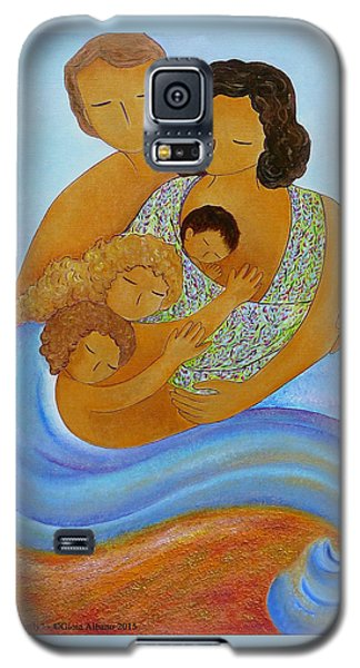 Galaxy S5 Case featuring the painting A Beautiful Family by Gioia Albano