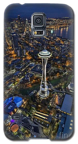 Galaxy S5 Case featuring the photograph A Birds-eye View Of Seattle by Roman Kurywczak