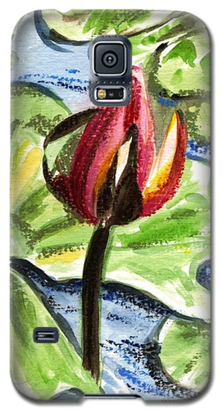 Galaxy S5 Case featuring the painting A Birth Of A Life by Harsh Malik