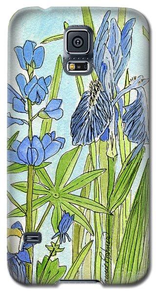 A Blue Garden Galaxy S5 Case