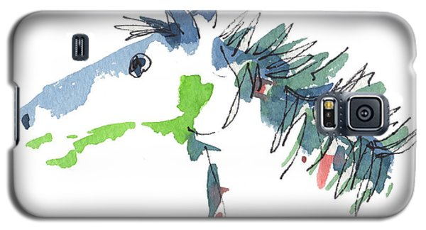 A Blue Roan Horse Watercolor Painting By Kmcelwaine Galaxy S5 Case