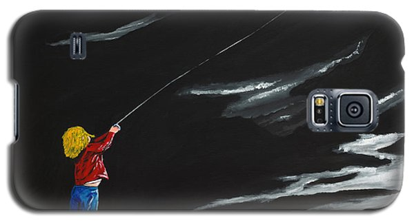 Galaxy S5 Case featuring the painting A Braw Night For Flight by Scott Wilmot