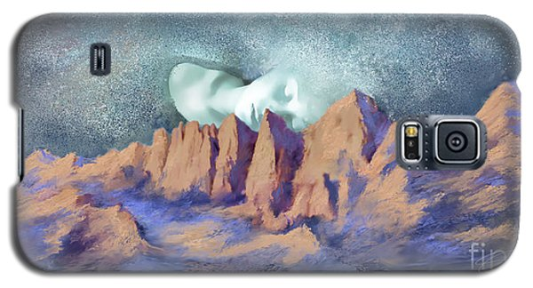 Galaxy S5 Case featuring the painting A Breath Of Tranquility by Sgn
