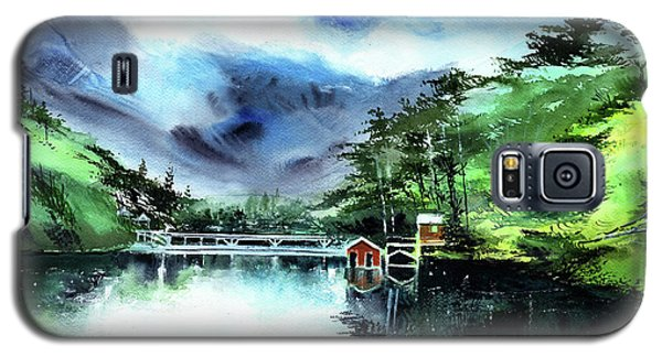 Galaxy S5 Case featuring the painting A Bridge Not Too Far by Anil Nene