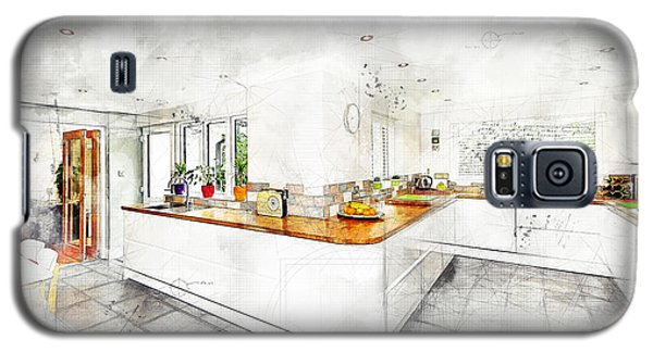 A Bright White Kitchen Galaxy S5 Case