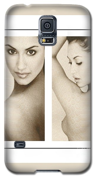 Galaxy S5 Case featuring the photograph A Brunette And Her Back by Michael Edwards