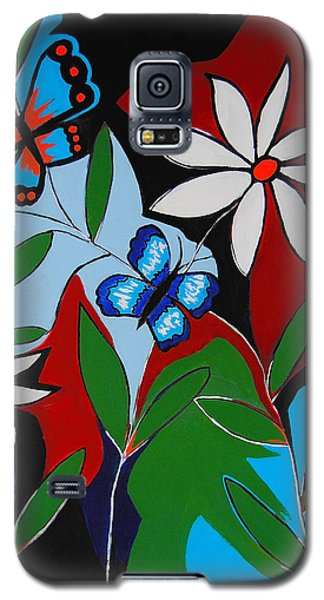 Galaxy S5 Case featuring the painting A Butterflies Paradise by Kathleen Sartoris