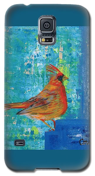 A Cardinal Came By Galaxy S5 Case