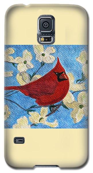 A Cardinal Spring Galaxy S5 Case