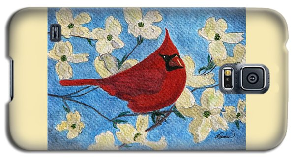 A Cardinal Spring Galaxy S5 Case by Angela Davies