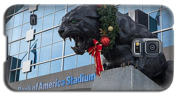 A Carolina Panthers Christmas Galaxy S5 Case by Kevin McCarthy