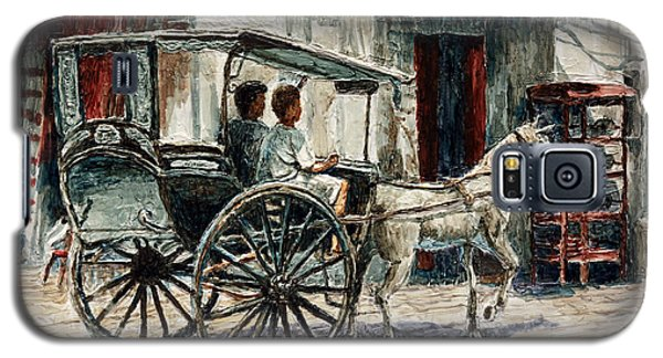 A Carriage On Crisologo Street Galaxy S5 Case by Joey Agbayani