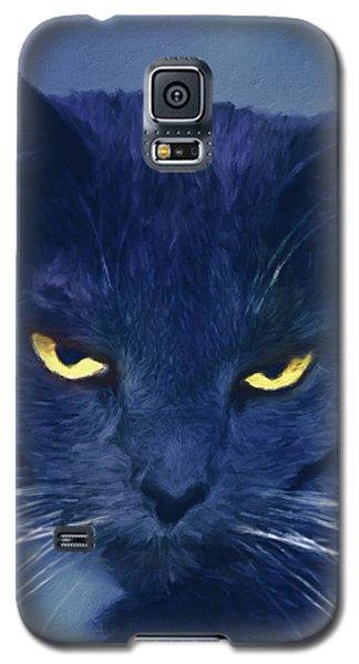 A Cat's Dark Night Galaxy S5 Case