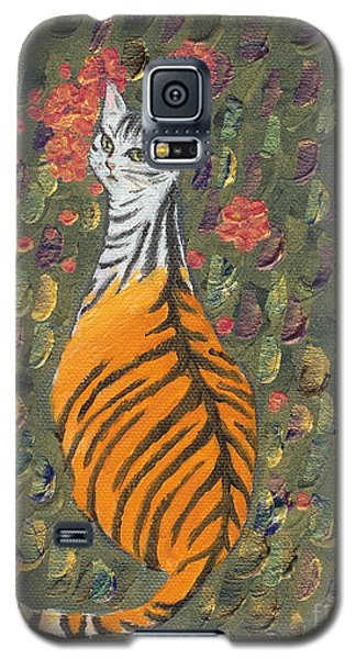 Galaxy S5 Case featuring the painting A Cat's Dream Apparel by Jingfen Hwu