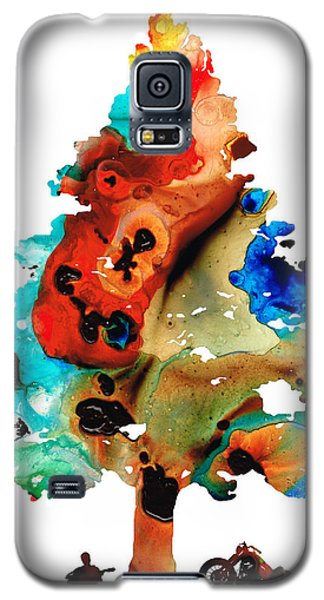 A Certain Kind Of Freedom - Guitar Motorcycle Art Print Galaxy S5 Case by Sharon Cummings