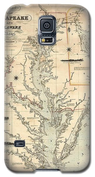 A Chart Of The Chesapeake And Delaware Bays 1862 Galaxy S5 Case