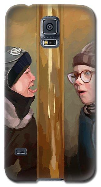 A Christmas Story Tongue Stuck To Pole Galaxy S5 Case
