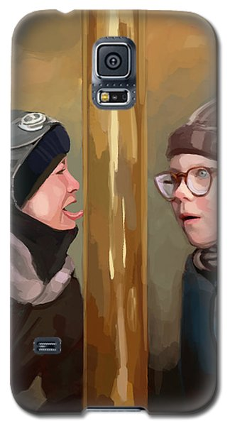 A Christmas Story Tongue Stuck To Pole Galaxy S5 Case