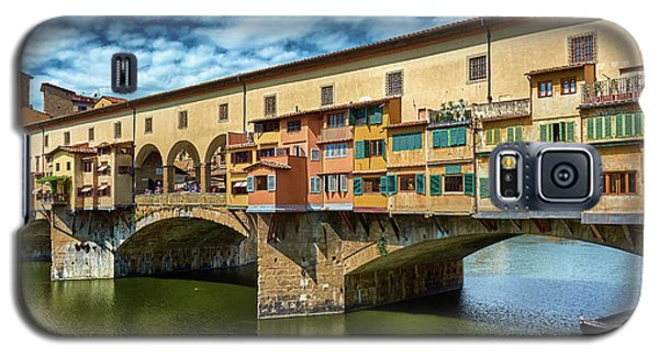 Ponte Vecchio On The Arno River Under A Blue Sky In Florence, Italy Galaxy S5 Case