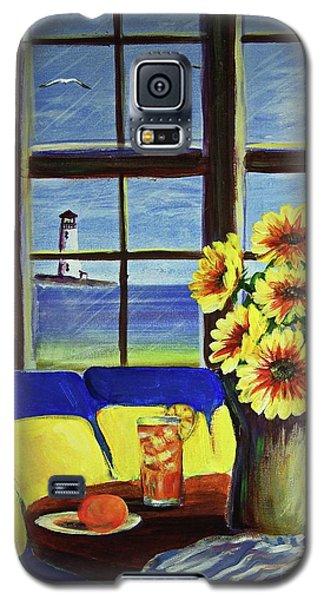 A Coastal Window Lighthouse View Galaxy S5 Case by Patricia L Davidson