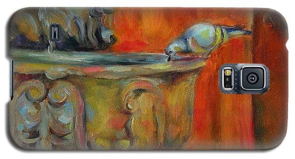 Galaxy S5 Case featuring the painting A Cool Drink by Chris Brandley