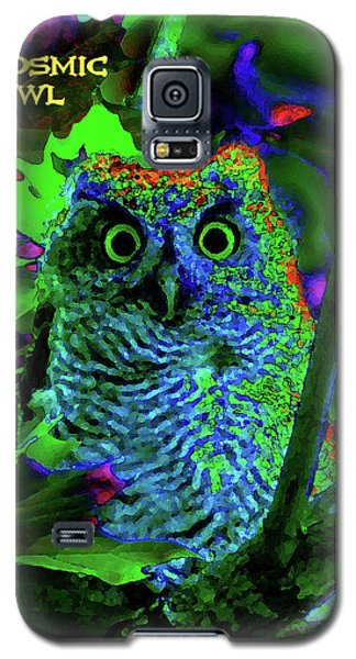 A Cosmic Owl In A Psychedelic Forest Galaxy S5 Case