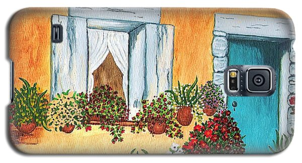 Galaxy S5 Case featuring the painting A Cottage In The Village by Patricia Griffin Brett