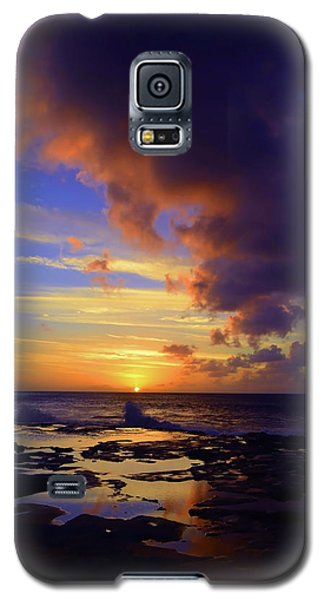 Galaxy S5 Case featuring the photograph A Dark Cloud Among Colour by Tara Turner
