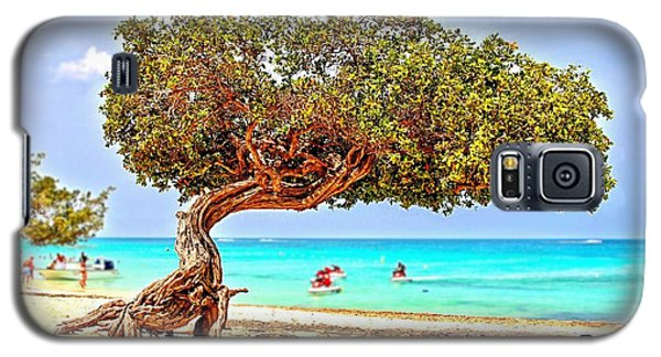 Galaxy S5 Case featuring the photograph A Day At Eagle Beach by DJ Florek