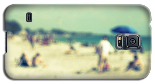 Galaxy S5 Case featuring the photograph a day at the beach I by Hannes Cmarits
