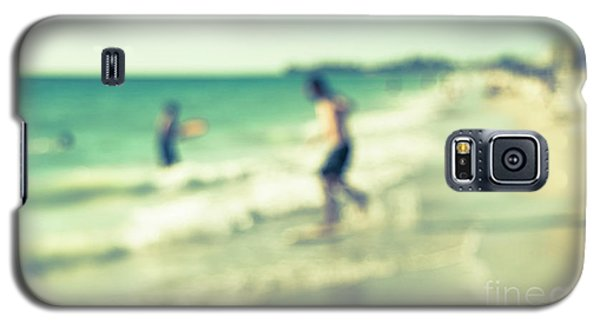 Galaxy S5 Case featuring the photograph a day at the beach III by Hannes Cmarits