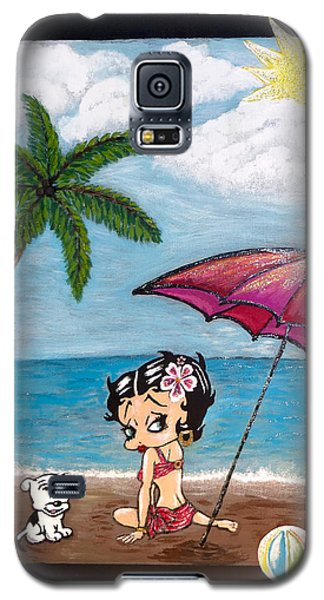 A Day At The Beach Galaxy S5 Case