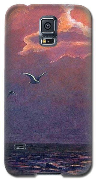 Galaxy S5 Case featuring the painting A Day In Galveston by Suzanne Theis