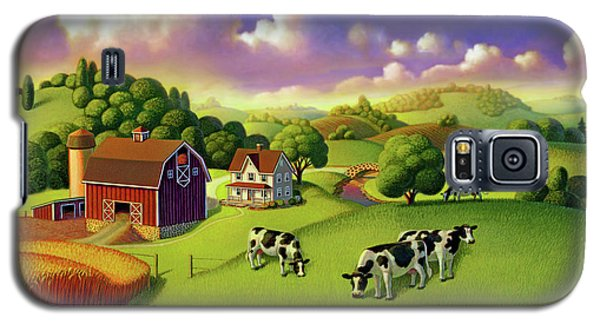 Galaxy S5 Case featuring the painting A Day On The Farm  by Robin Moline