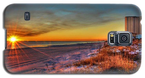 A December Beach Sunset Galaxy S5 Case