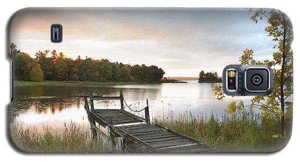 A Dock On A Lake At Sunrise Near Wawa Galaxy S5 Case