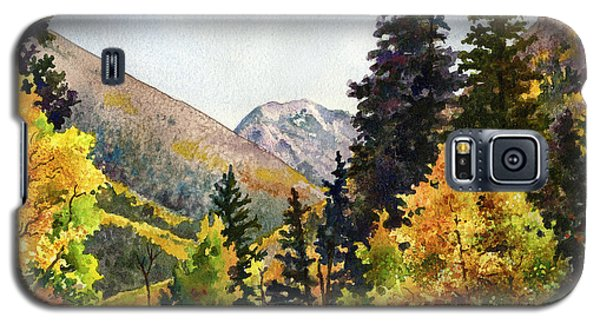 Galaxy S5 Case featuring the painting A Drive In The Mountains by Anne Gifford