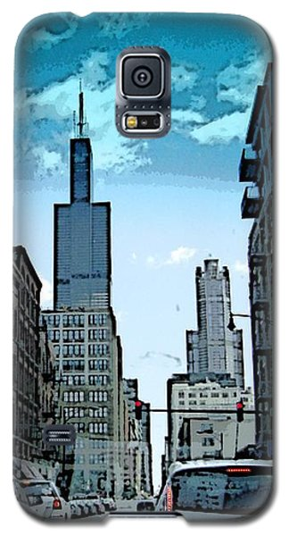 Galaxy S5 Case featuring the photograph A Drive Through Downtown Chicago by Skyler Tipton