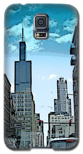 A Drive Through Downtown Chicago Galaxy S5 Case by Skyler Tipton