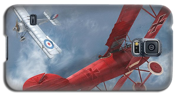 A Duel Begins - The Red Baron Galaxy S5 Case by David Collins