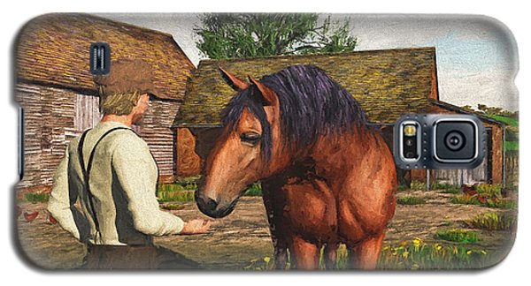 A Farmer And His Horse Galaxy S5 Case