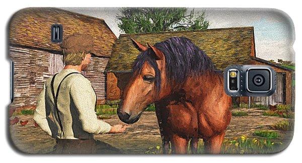 A Farmer And His Horse Galaxy S5 Case
